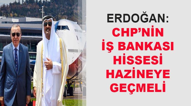 Erdoğan: Katar Emiri uçağı hibe etti