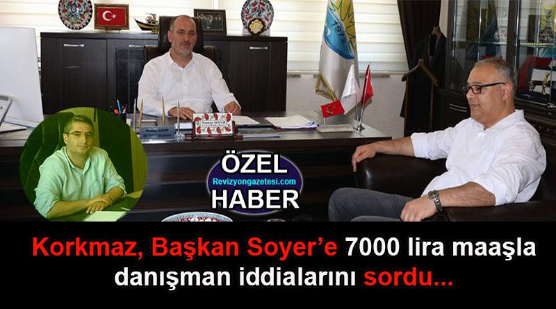 Numan Soyer'e 7000 lira maaşla danışman iddiası!