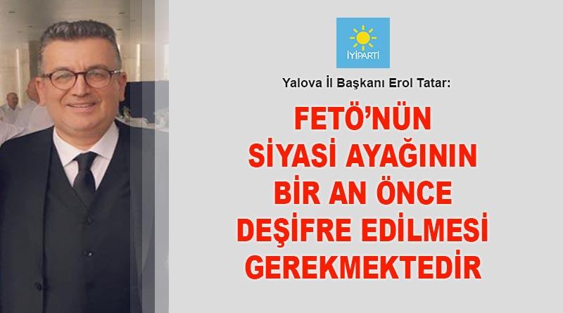 İl Başkanı Tatar: Unutmadık, asla unutmayacağız...