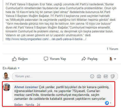Ahmet Özsümer: Kabadayılıkla kamu kurumu yönetilmez!