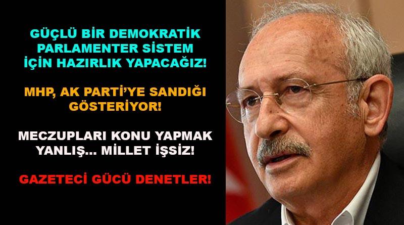 Kılıçdaroğlu: Millet İttifakı'nın iktidarı inşallah gerçekleşecek!