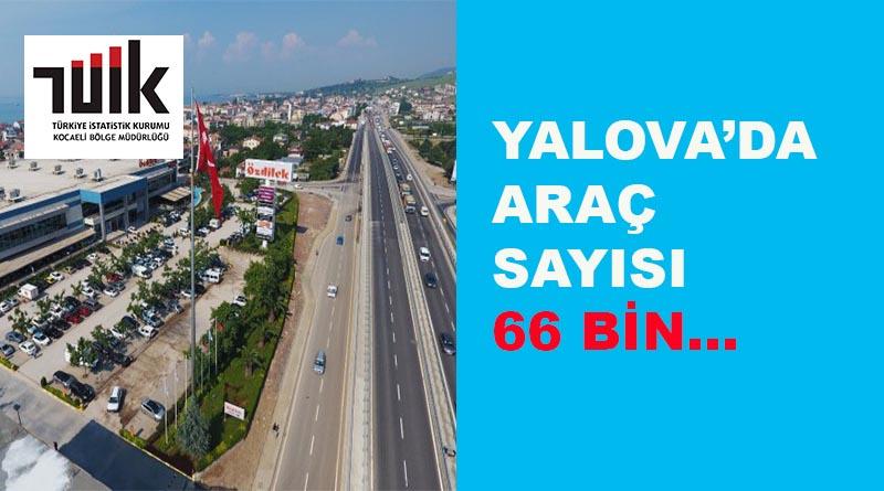 Yalova'da araç sayısı 66 bin...