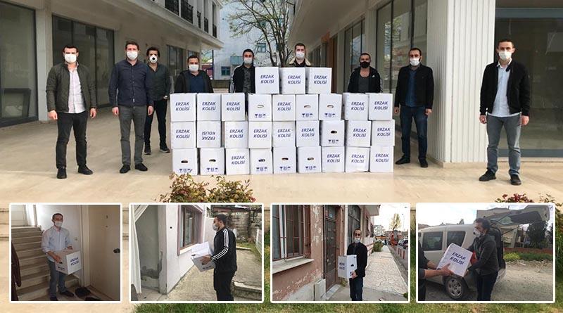 AK Parti Yalova İl Gençlik Kolları Başkanlığı, ihtiyaç sahibi vatandaşlara yardım paketi dağıttı
