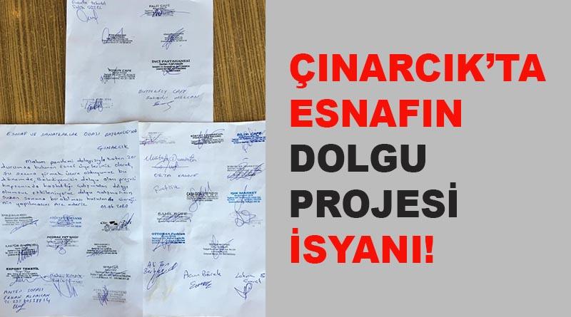Çınarcık'ta esnafın dolgu projesi isyanı!