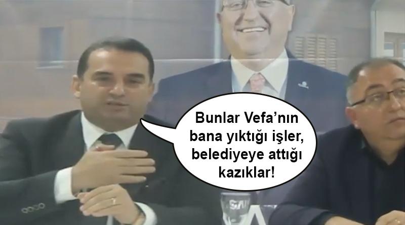 Halit Güleç: Bunlar Vefa'nın bana yıktığı işler, belediyeye attığı kazıklar!