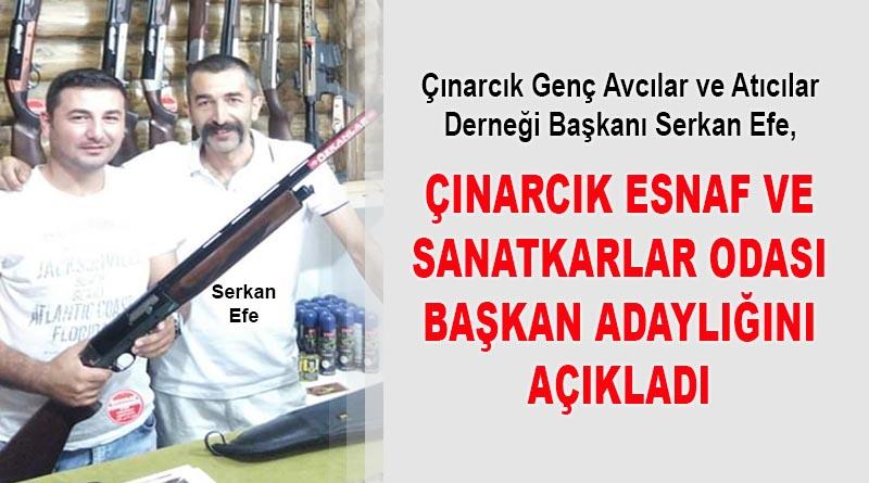 Serkan Efe, Çınarcık Esnaf ve Sanatkarlar Odası Başkan adaylığını açıkladı