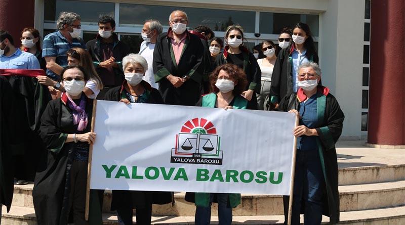 Yalova Barosu: Baro başkanlarına konulan engel tüm avukatlara, savunmaya ve adalete karşı koyulan bir engeldir!
