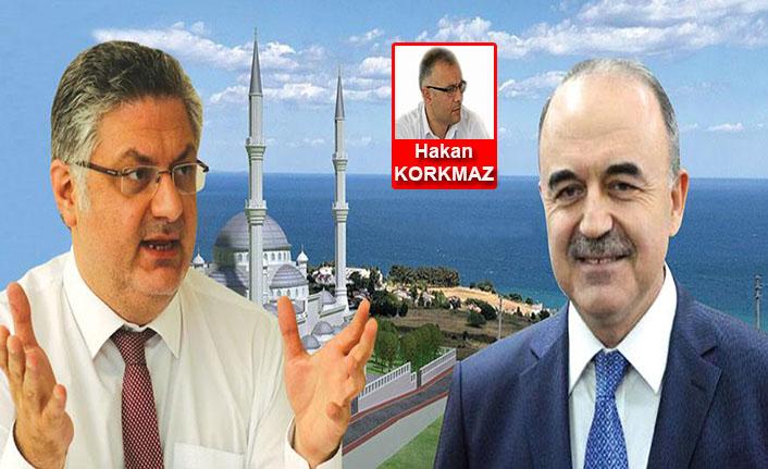 CHP Yalova İl Başkanı Mehmet Gürel, deniz kıyısına cami projesini tiye aldı!