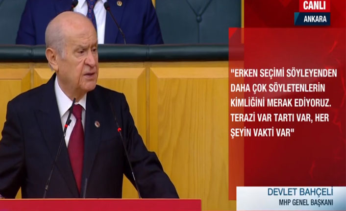 Bahçeli'den Kılıçdaroğlu'na erken seçim yanıtı