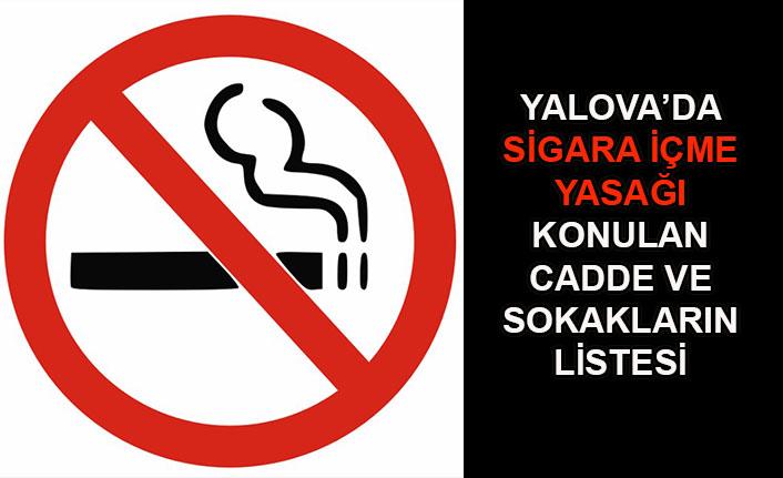 Yalova'da sigara içme yasağı
