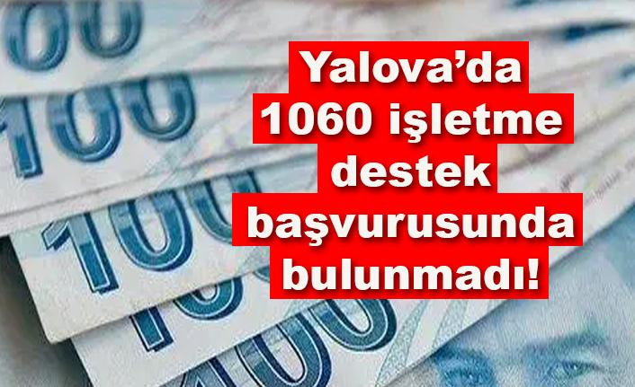Yalova'da 1060 ticari işletme destek başvurusunda bulunmadı!
