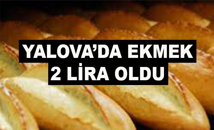 Yalova'da ekmek 2 lira oldu