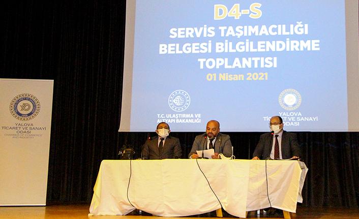 Yalova'da D4-S Servis Taşımacılığı Belgesi Bilgilendirme Toplantısı