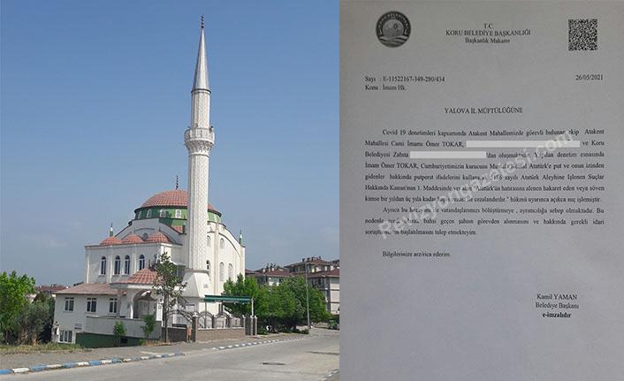 CHP'li Belediye Başkanı Kamil Yaman cami imamını müftülüğe şikayet etti