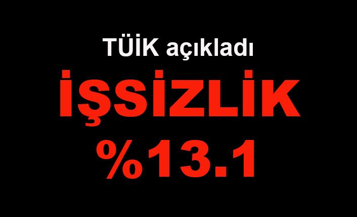 TÜİK açıkladı: İşsizlik %13.1