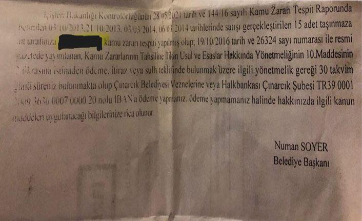 AK Parti'ye Çınarcık'ta şok! Numan Soyer hesap numarası verip paraları istedi!
