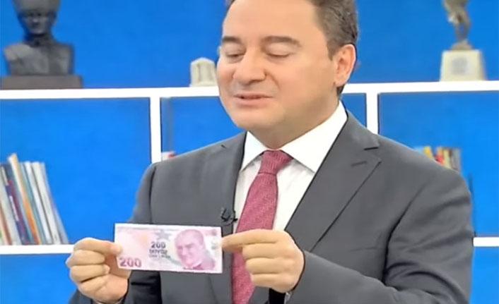 Ali Babacan: 2009'da 200 lira 123 dolardı, bugün 200 lira 23 dolar!