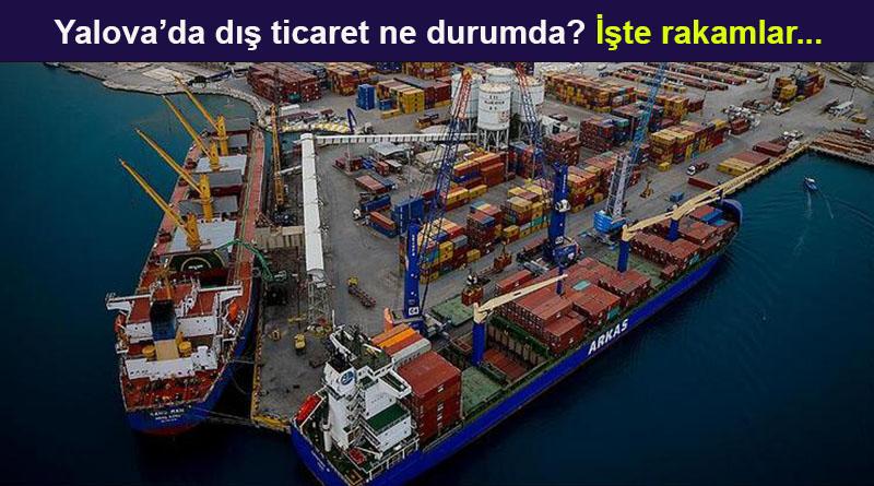 Türkiye ve İllere göre Dış Ticaret İstatistikleri, Mart 2020 Yalova
