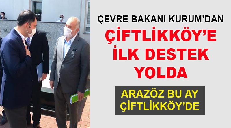 Çevre Bakanı Murat Kurum'dan Çiftlikköy'e ilk destek yolda