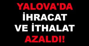 Yalova'da ihracat ve ithalat azaldı!