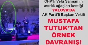 Mustafa Tutuk'tan örnek davranış... sahne ağaçla birlikte kuruldu