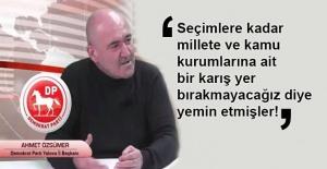 Ahmet Özsümer: Başka işleri güçleri yok!