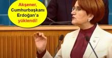 İYİ Parti lideri Meral Akşener, Cumhurbaşkanı Erdoğan'a yüklendi!