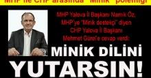 Namık Öz'den Mehmet Gürel'e cevap: Minik dilini yutarsın!