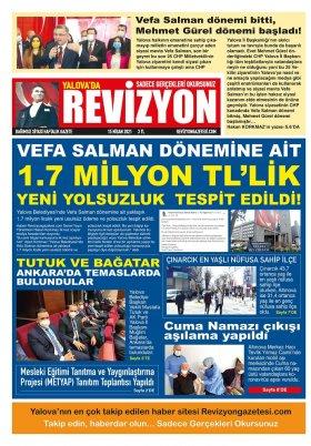 Revizyon Gazetesi - 15.04.2021 Manşeti